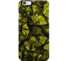 Fractal art black and yellow iPhone Case/Skin