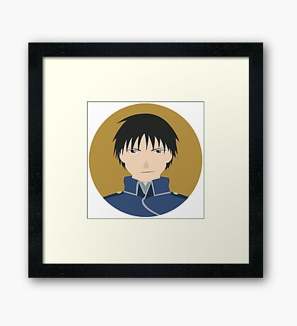 Roy Mustang Graphic Framed Print