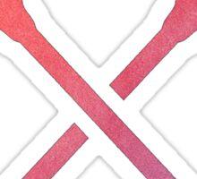 Lacrosse Stick Multicolored Sticker