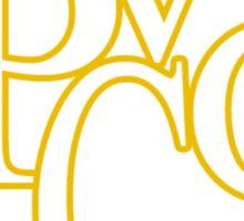 PVGC Golden Hexagon Sticker Sticker