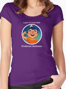 Learn To Code With Professor Beekums Women's Fitted Scoop T-Shirt