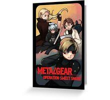 METAL GEAR: SWEET SNAKE Greeting Card