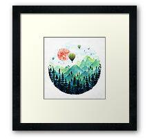 Roundscape Framed Print