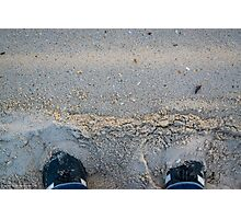 Sophie's Adidas Samba Shoes In Sand | Fire Island, New York Photographic Print