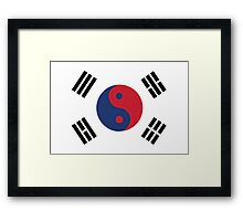 Korean Yin Yang Framed Print