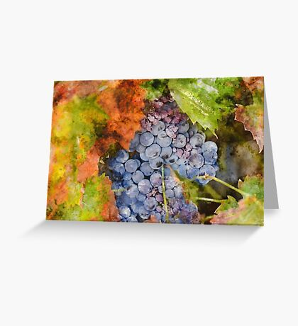 Grapes in the Vineyard Greeting Card