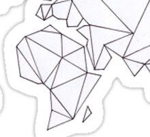 Geometric Continents Sticker