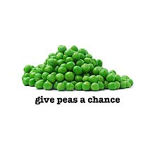 Give peas a chance Photographic Print