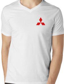 Mitsubishi Logo Mens V-Neck T-Shirt