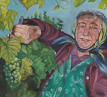 The Grape Lady by patriciaarnold