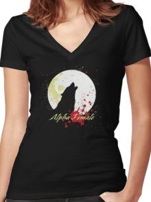 Alpha Female Women's Fitted V-Neck T-Shirt