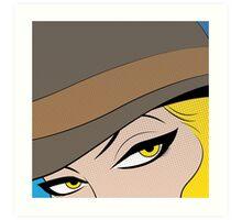 Girls Eyes Halftone Art Print