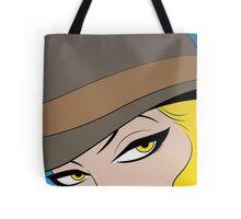 Girls Eyes Halftone Tote Bag
