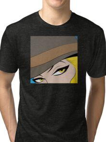 Girls Eyes Halftone Tri-blend T-Shirt