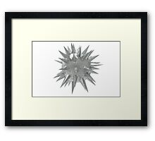 Abstract 3d rendering of low poly mtel sphere with chaotic structure. Sci-fi background. Futuristic shape. Framed Print