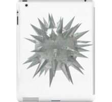 Abstract 3d rendering of low poly mtel sphere with chaotic structure. Sci-fi background. Futuristic shape. iPad Case/Skin