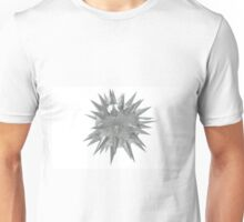Abstract 3d rendering of low poly mtel sphere with chaotic structure. Sci-fi background. Futuristic shape. Unisex T-Shirt
