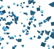 Abstract 3D Rendering Blue Triangles. Sticker