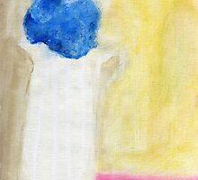 Single blue hydrangea by Tine  Wiggens
