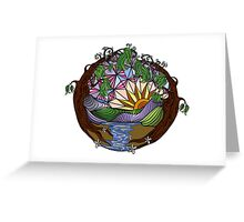 Tree Encased Landscape Greeting Card
