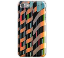 Colorful Exterior of Glass Business Building on a Clear Sky Background iPhone Case/Skin