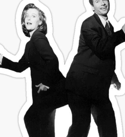X Files // They boogie Sticker