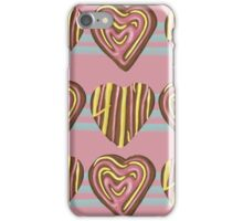 Gingerbread Love on Pink iPhone Case/Skin