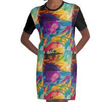 wave Graphic T-Shirt Dress