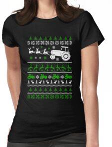 Christmas - Farmer Ugly Christmas Womens Fitted T-Shirt