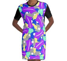 Purple Festivus  Graphic T-Shirt Dress