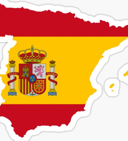 Spain Flag Map Sticker