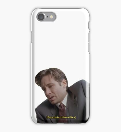 X Files // Paranoia Intensifies iPhone Case/Skin