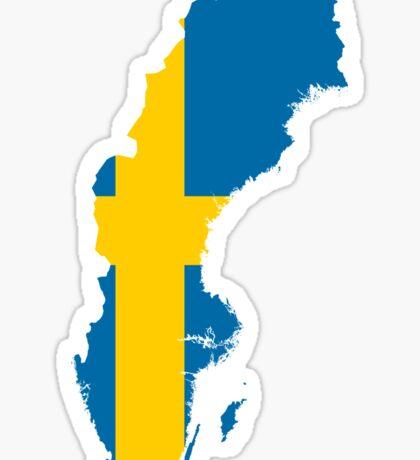Sweden Flag Map Sticker