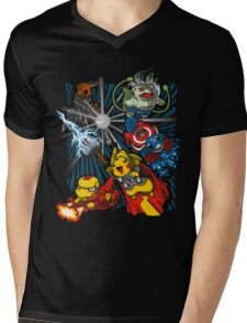 Avengermon! Mens V-Neck T-Shirt