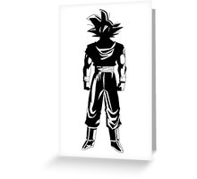 Warrior (black) Greeting Card