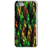 Abstract 3d rendering of green and brown trees. iPhone Case/Skin