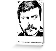 Oliver Reed Awe & Respect Greeting Card