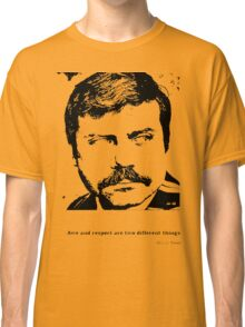 Oliver Reed Awe & Respect Classic T-Shirt