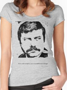 Oliver Reed Awe & Respect Women's Fitted Scoop T-Shirt