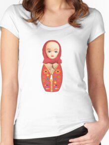 Russian Matryoshka Doll! Women's Fitted Scoop T-Shirt