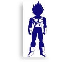Warrior (blue) Canvas Print