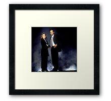 X Files // Scully & Mulder Framed Print