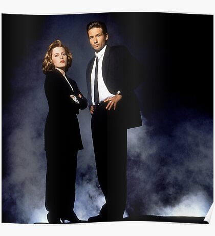 X Files // Scully & Mulder Poster