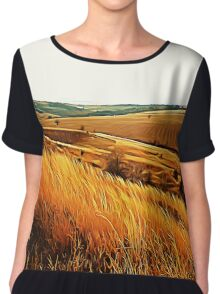 Autumn fields Chiffon Top