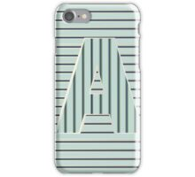 Aqua Mint Pearl Op Art Deco Monogram letter A iPhone Case/Skin