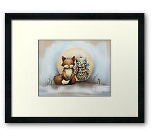 fox and owl Framed Print
