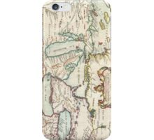 Vintage Map of The Great Lakes (1755) iPhone Case/Skin