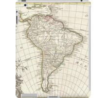 Vintage Map of South America (1762) iPad Case/Skin