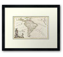 Vintage Map of South America (1762) Framed Print
