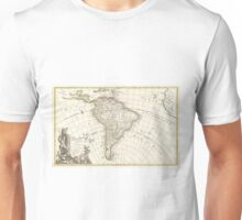 Vintage Map of South America (1762) Unisex T-Shirt